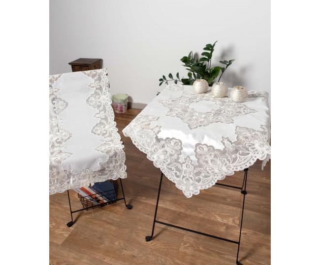 Διακοσμητικά πετσετάκια (50cm X 50cm)  YL169-14B λευκό